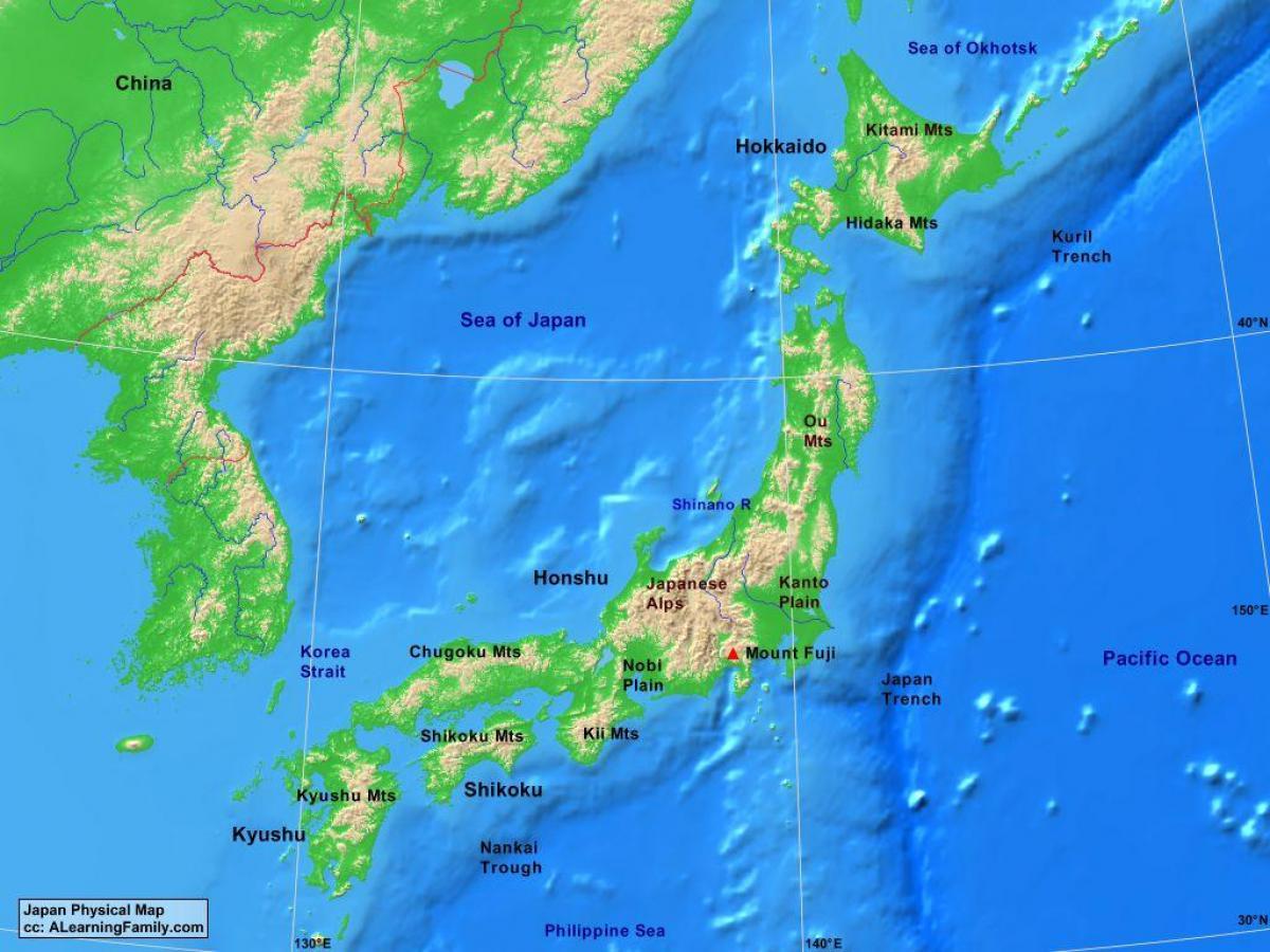 Harta Japonia Harta Fizica