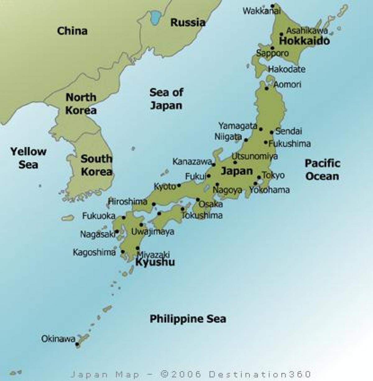 Harta Japonia Marile Orase Harta Japonia Marile Orașe Asia De